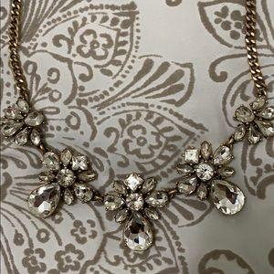 J Crew Crystal Vintage Gold Necklace